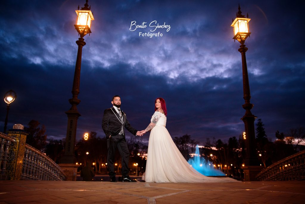 benito sanchez fotógrafos , boda en sevilla , parque maria luisa
